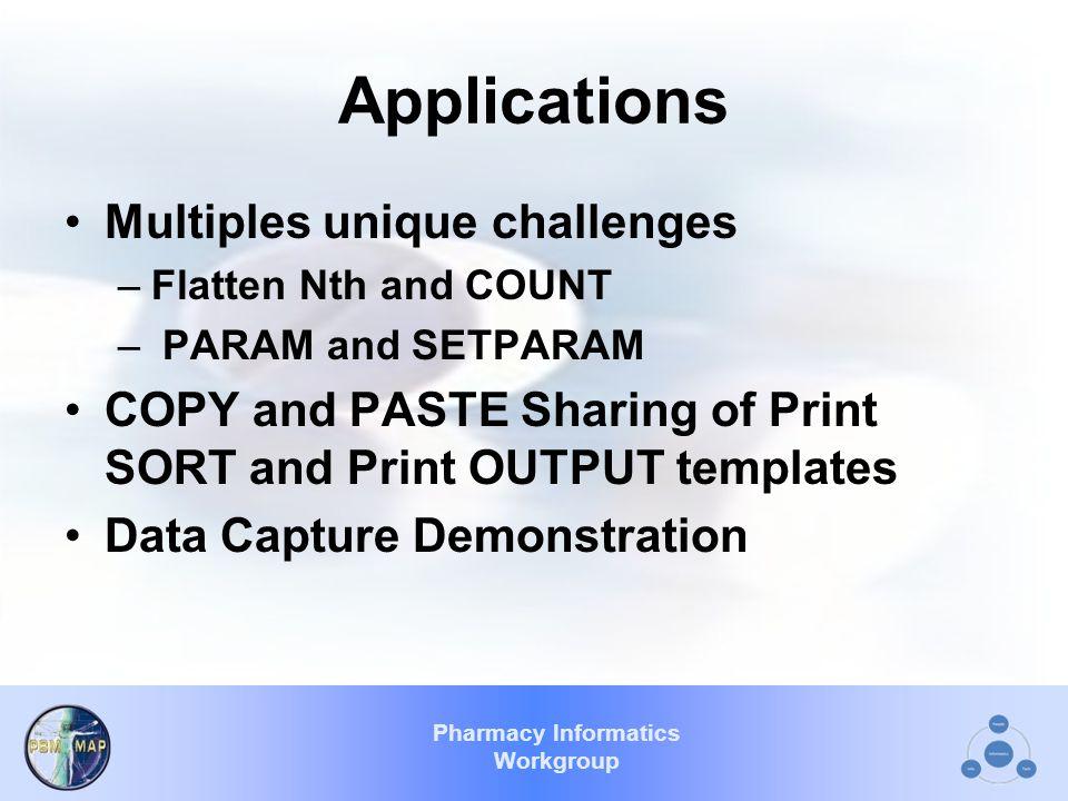 Applications Multiples unique challenges