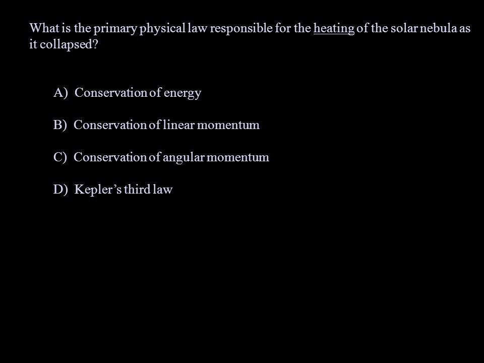 What is the primary physical law responsible for the heating of the solar nebula as it collapsed