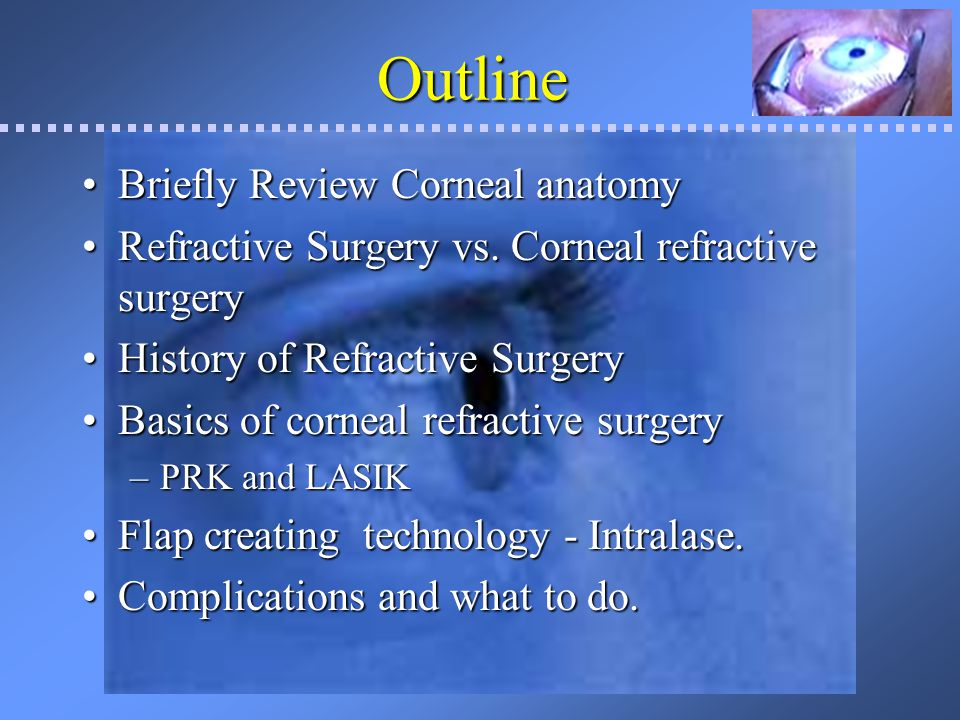 Outline Briefly Review Corneal anatomy
