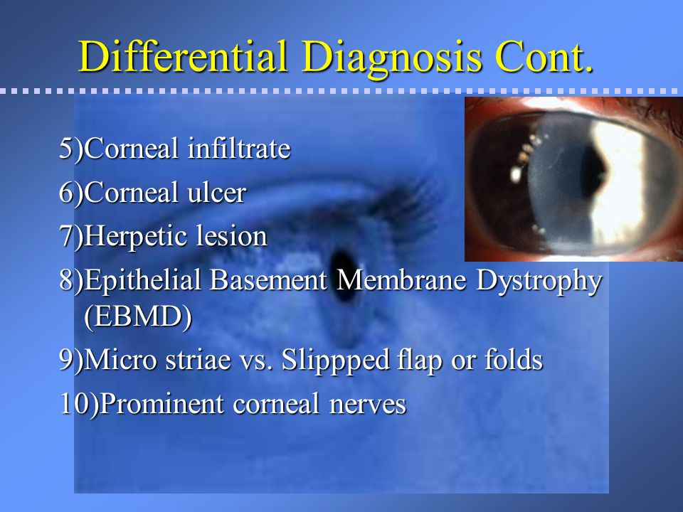 Differential Diagnosis Cont.