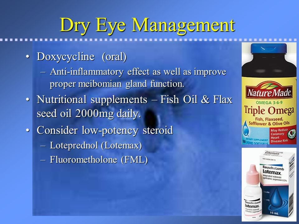 Dry Eye Management Doxycycline (oral)