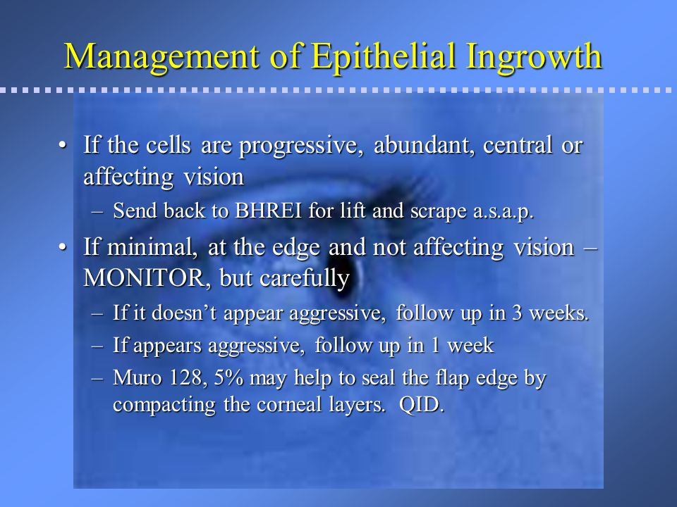 Management of Epithelial Ingrowth