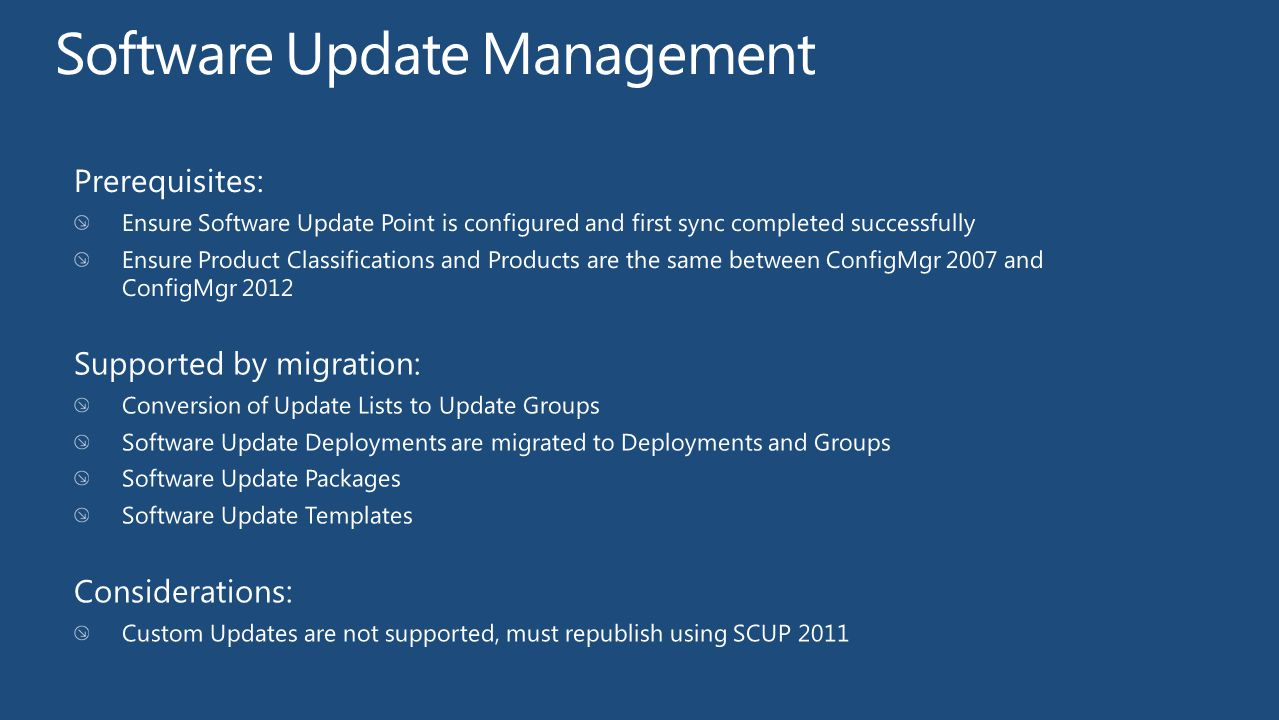 Software Update Management