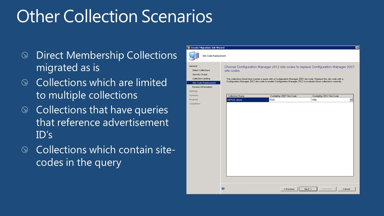 Other Collection Scenarios
