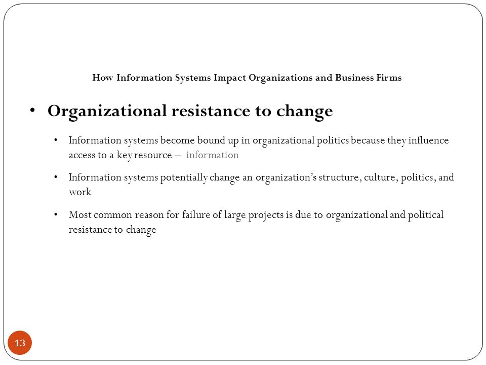 How Information Systems Impact Organizations and Business Firms