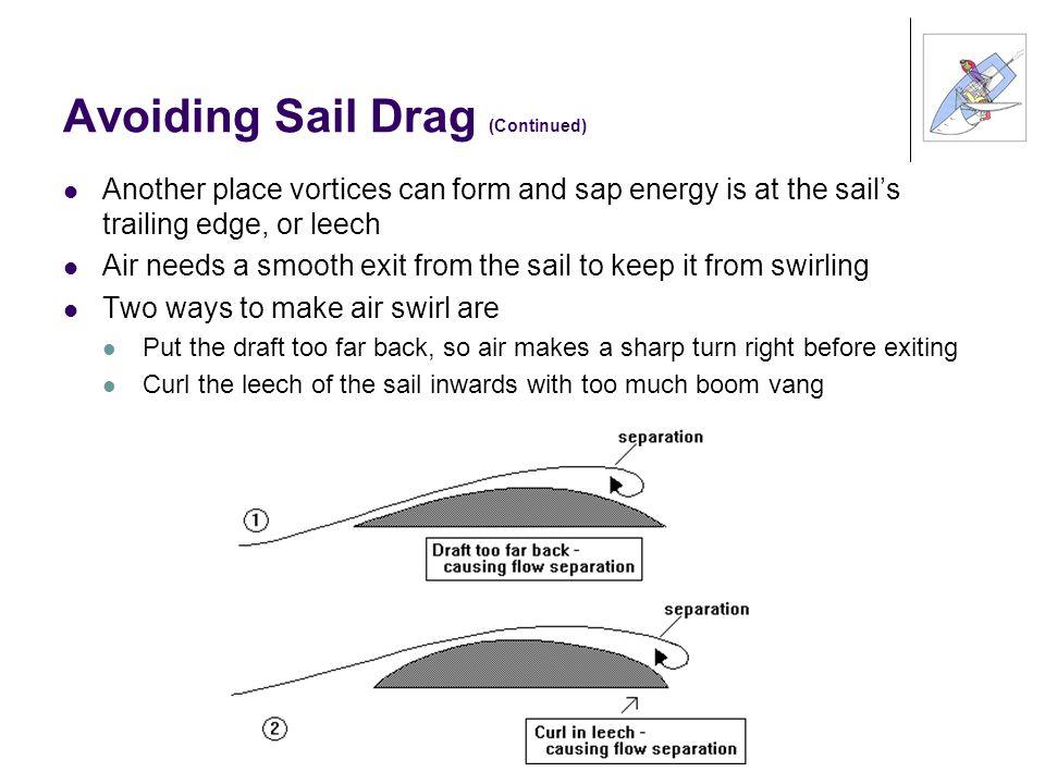 Avoiding Sail Drag (Continued)
