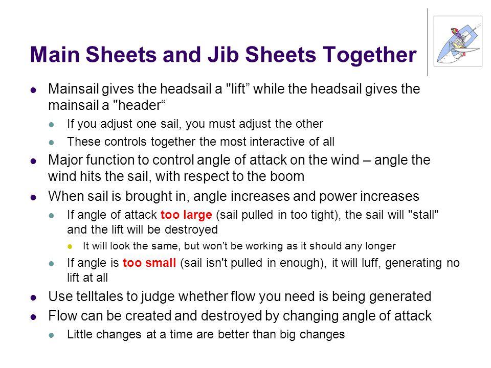 Main Sheets and Jib Sheets Together