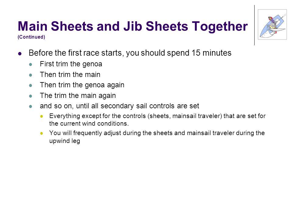 Main Sheets and Jib Sheets Together (Continued)