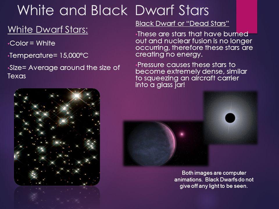 White and Black Dwarf Stars
