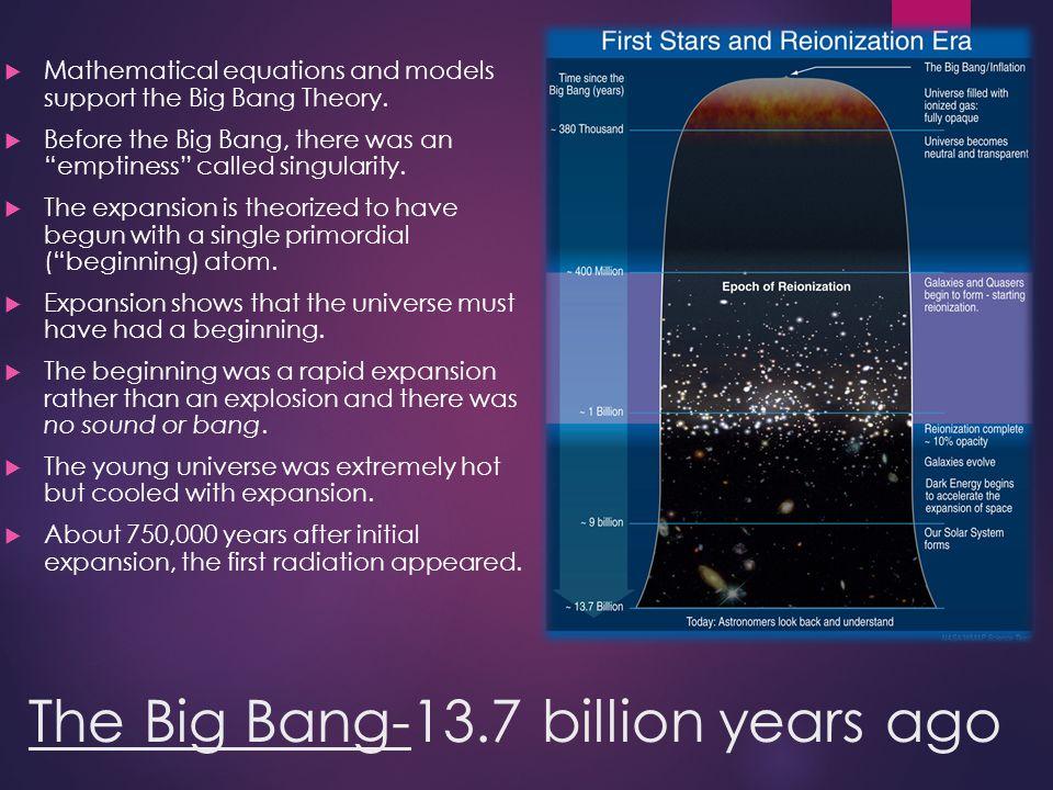 The Big Bang-13.7 billion years ago