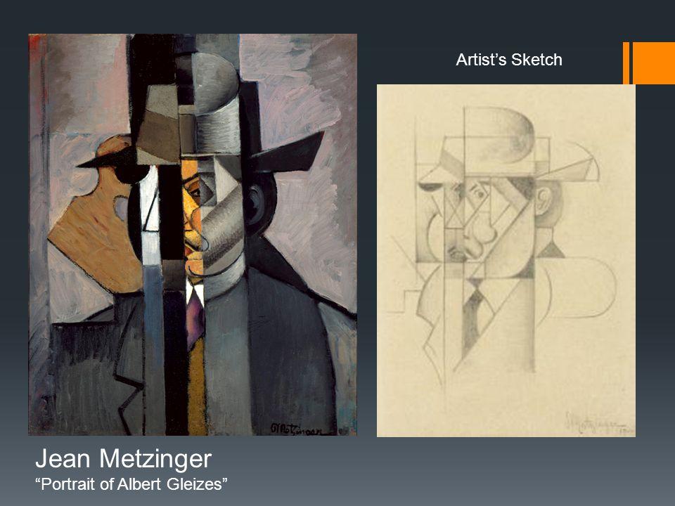 Artist's Sketch Jean Metzinger Portrait of Albert Gleizes