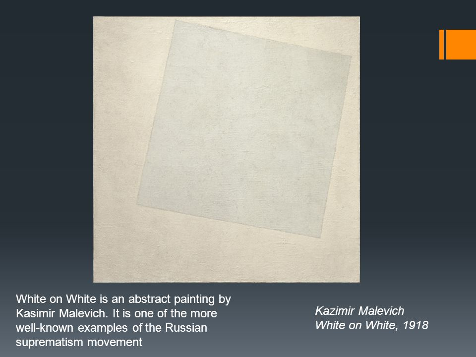 White on White is an abstract painting by Kasimir Malevich