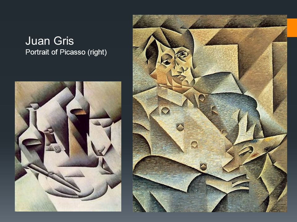 Juan Gris Portrait of Picasso (right)