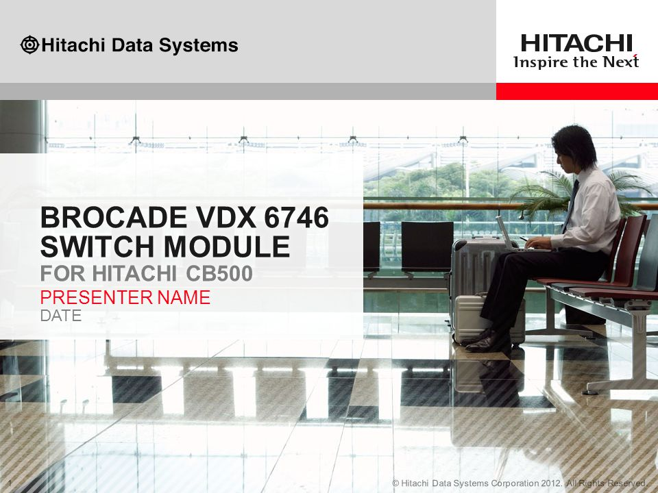 Brocade VDX 6746 switch module for Hitachi Cb500