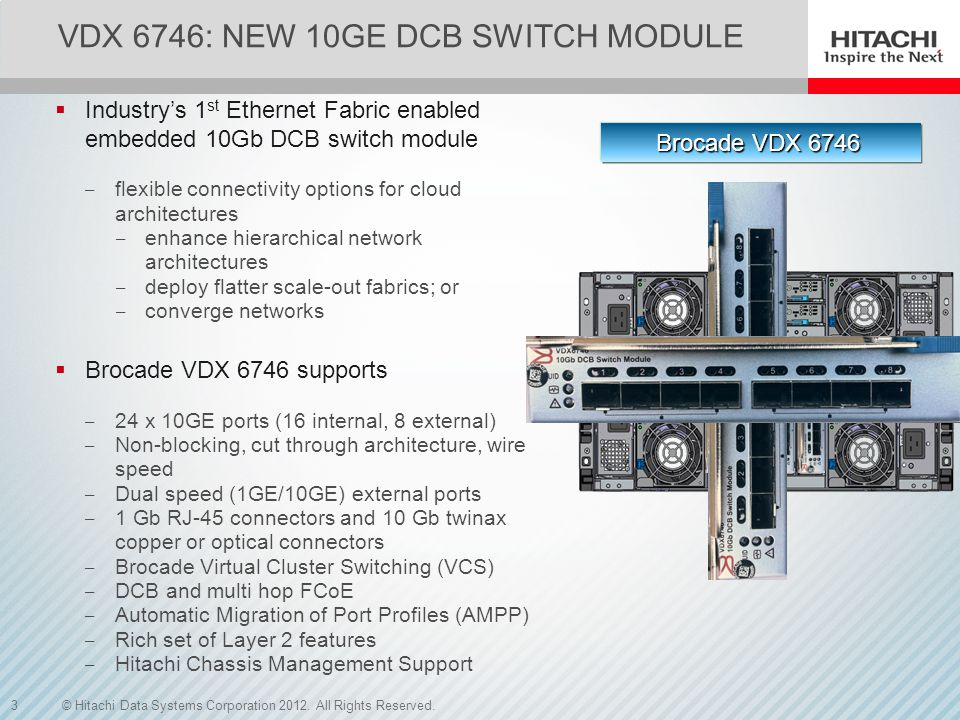 VDX 6746: New 10GE DCB switch MODUle