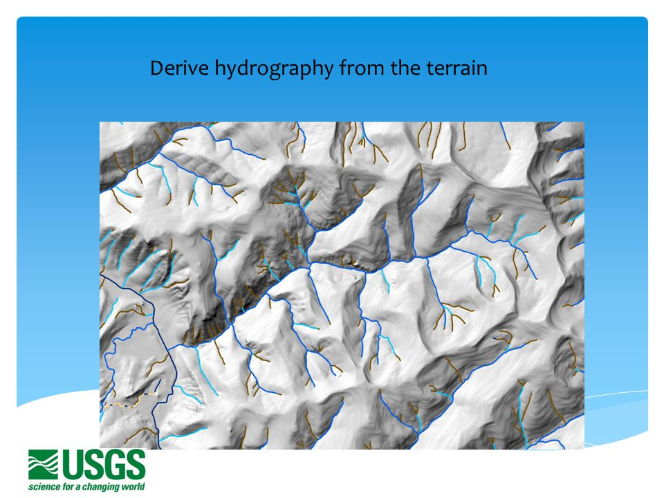 Derive hydrography from the terrain