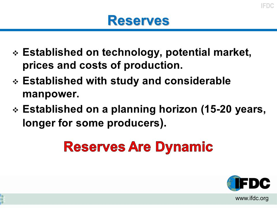 Reserves Reserves Are Dynamic