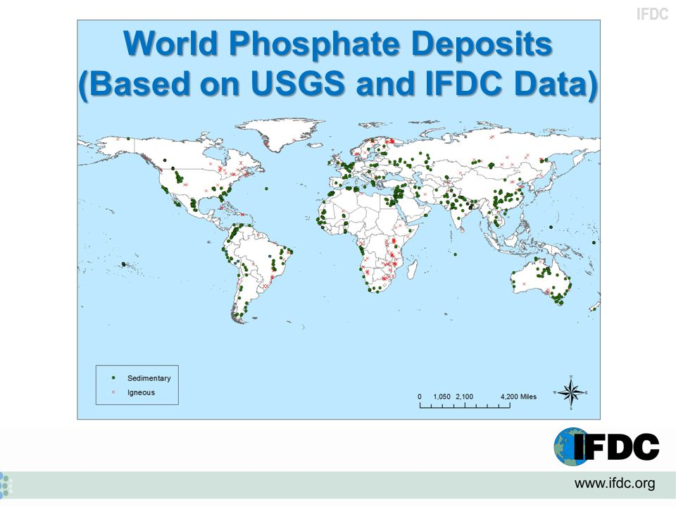 World Phosphate Deposits (Based on USGS and IFDC Data)