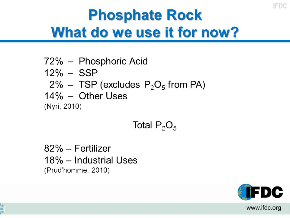 Phosphate Rock What do we use it for now