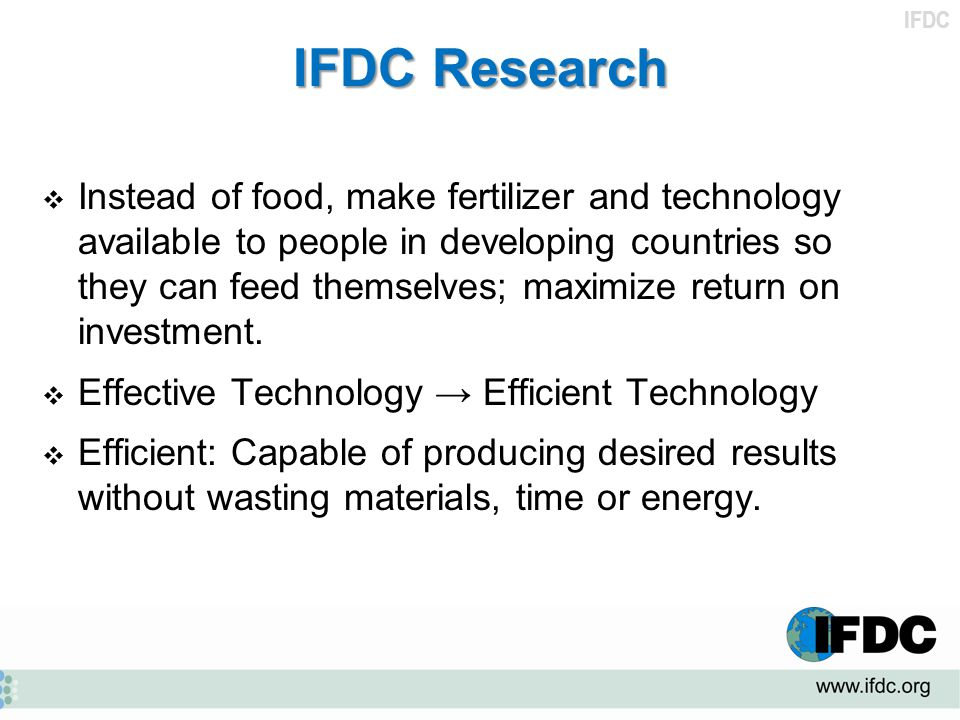 IFDC Research