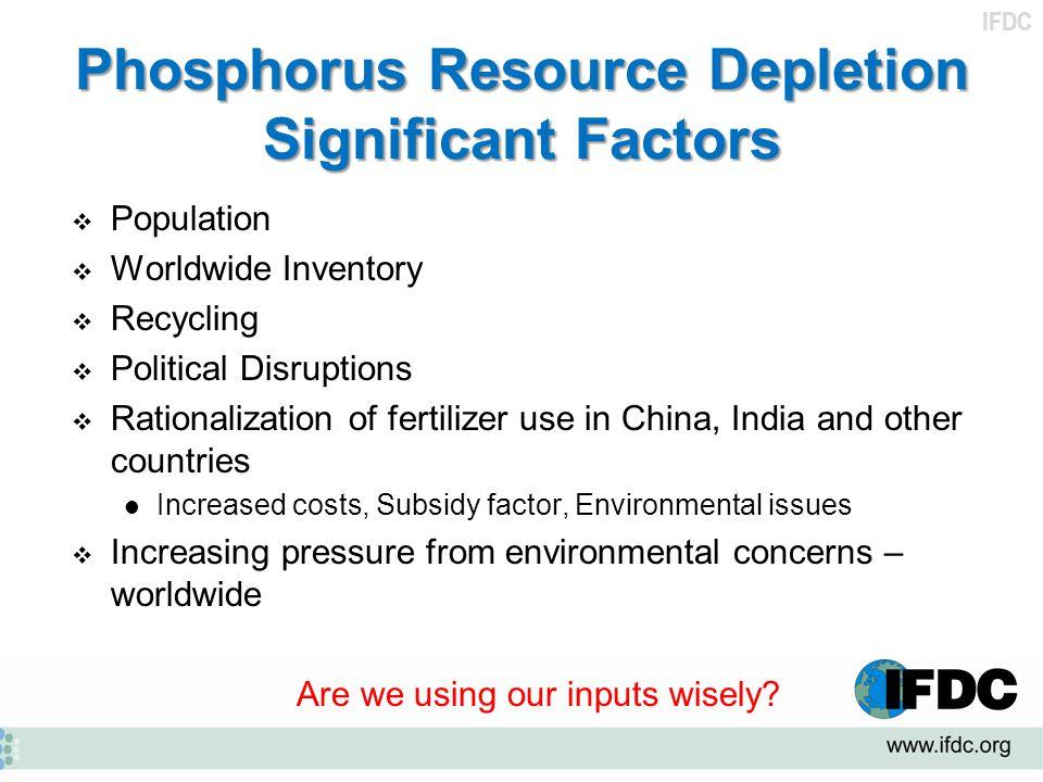 Phosphorus Resource Depletion Significant Factors