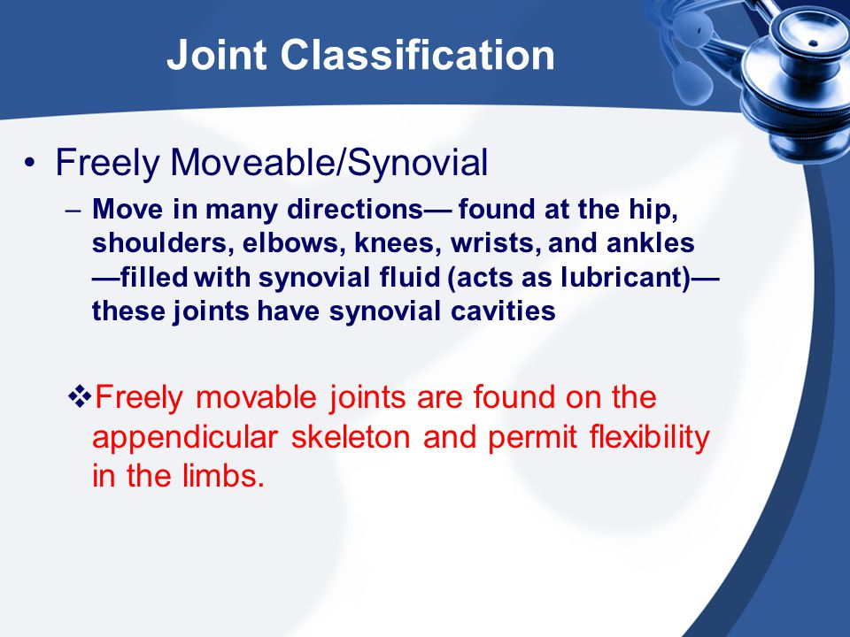 Joint Classification Freely Moveable/Synovial
