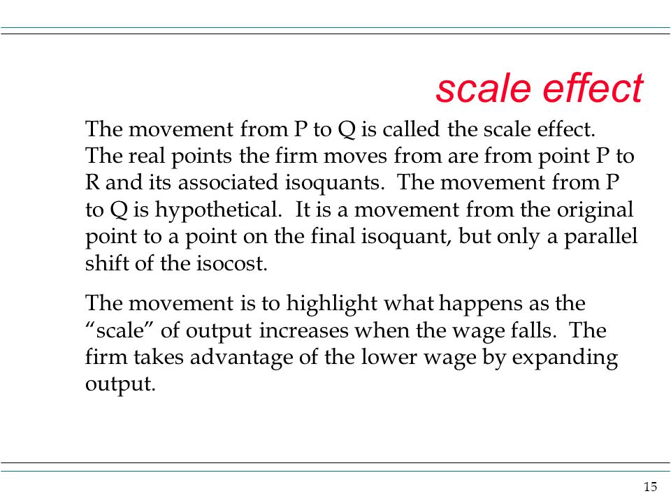 scale effect