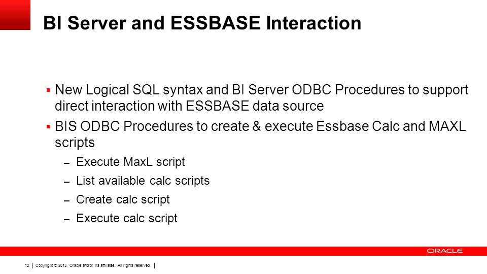 BI Server and ESSBASE Interaction