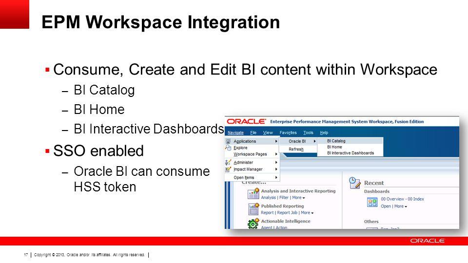 EPM Workspace Integration