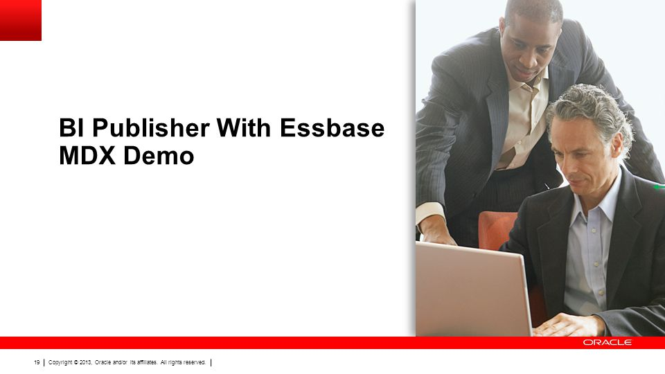 BI Publisher With Essbase MDX Demo