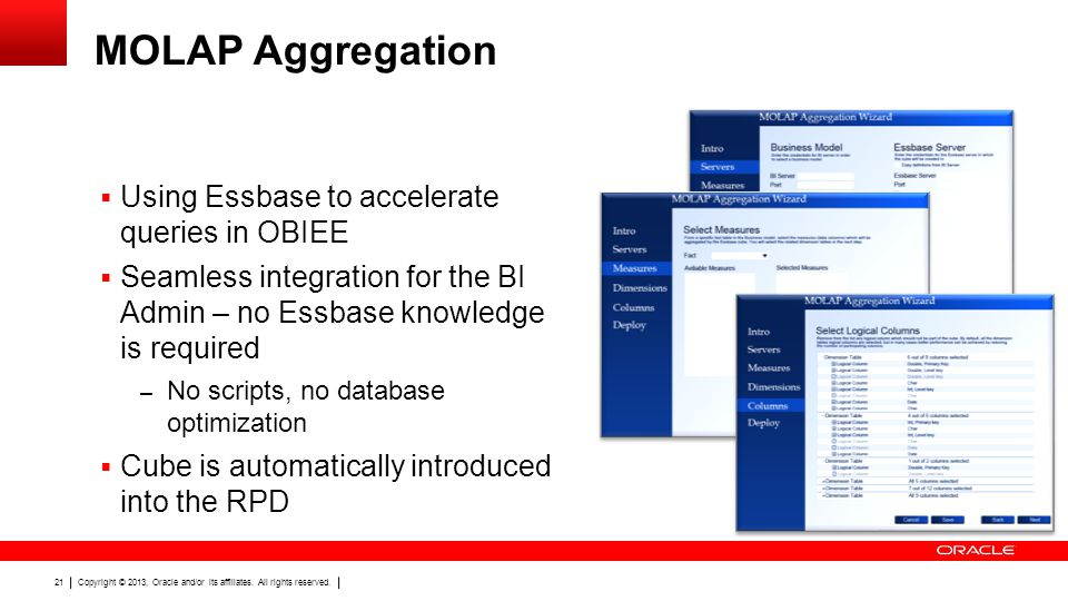MOLAP Aggregation Using Essbase to accelerate queries in OBIEE