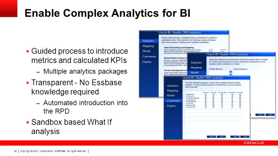 Enable Complex Analytics for BI