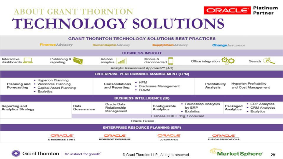 TECHNOLOGY SOLUTIONS ABOUT GRANT THORNTON
