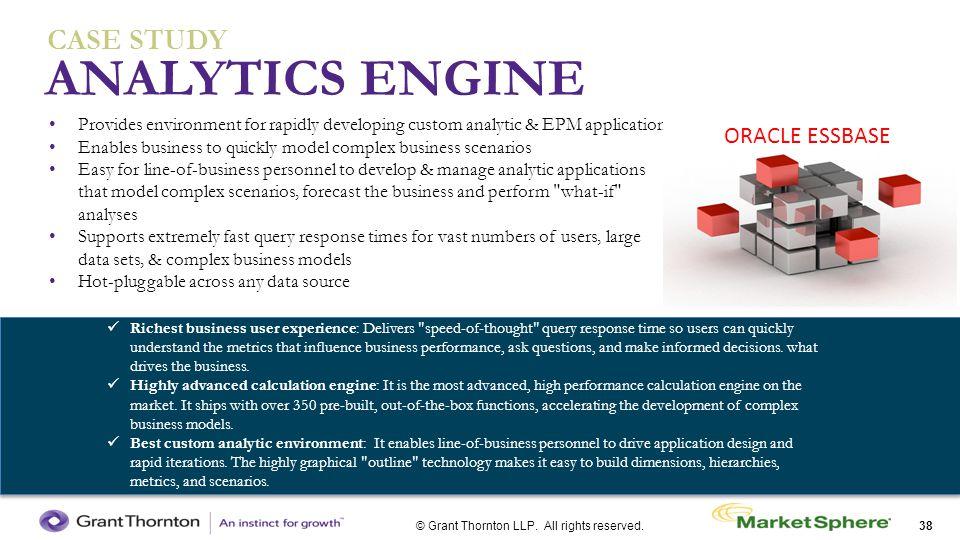 ANALYTICS ENGINE CASE STUDY ORACLE ESSBASE