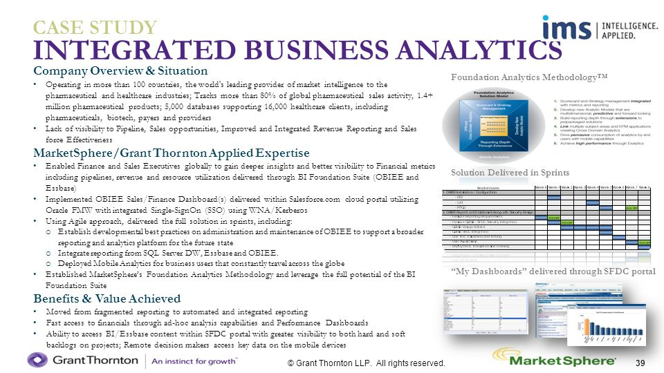 INTEGRATED BUSINESS ANALYTICS