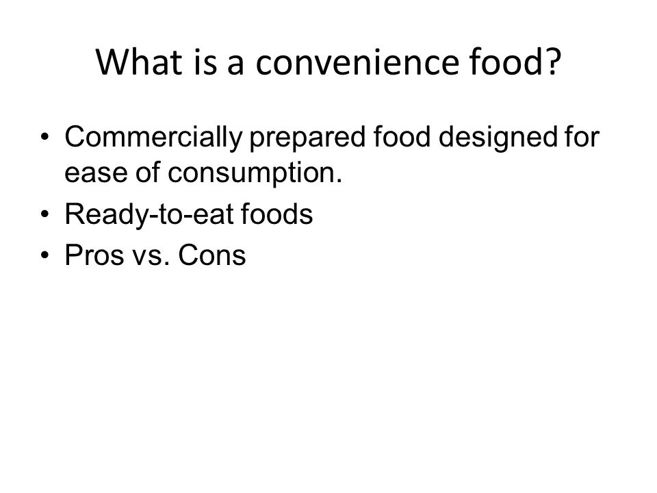 What is a convenience food