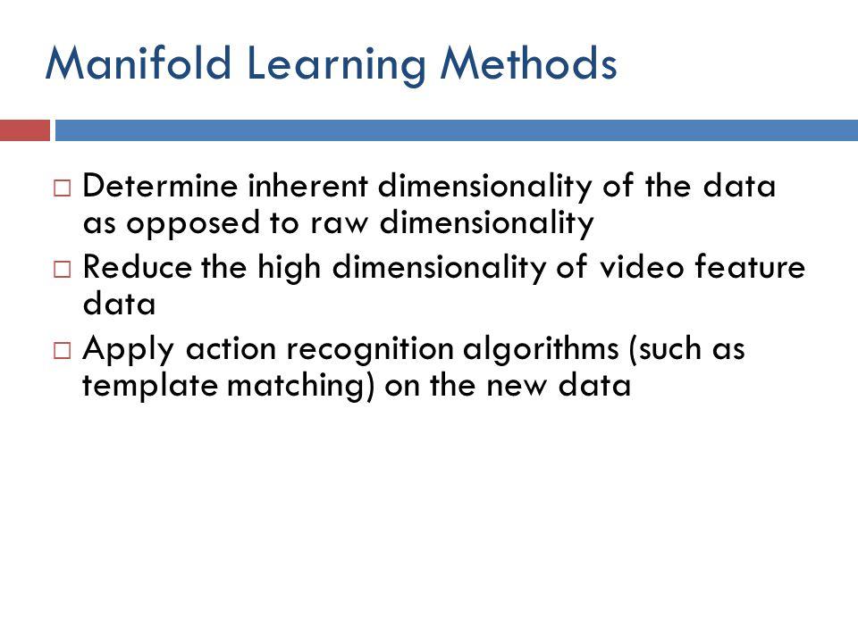 Manifold Learning Methods
