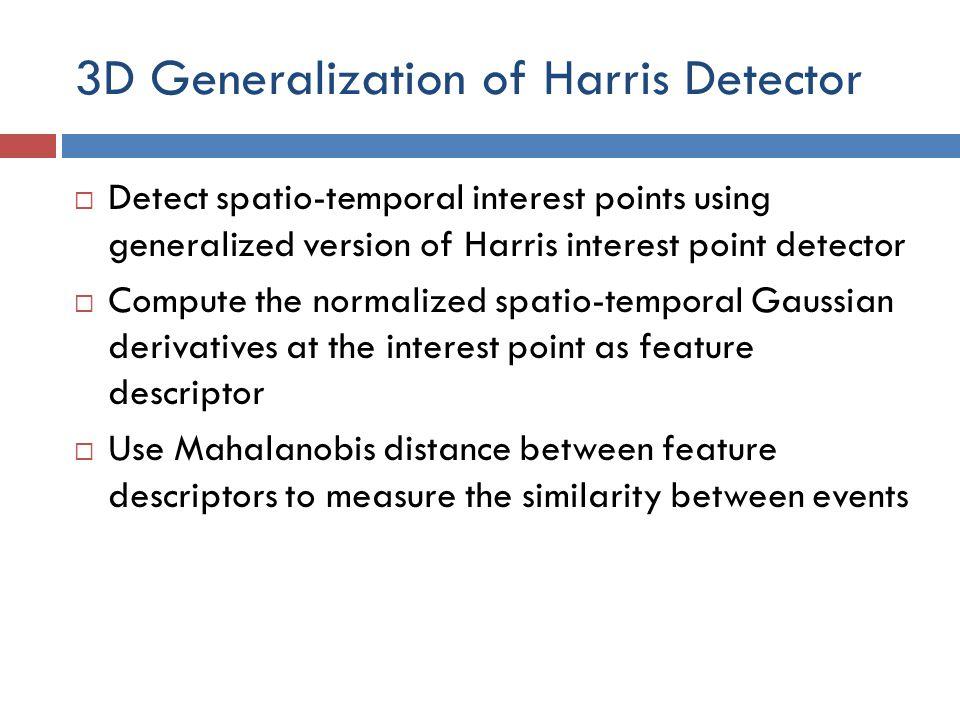 3D Generalization of Harris Detector