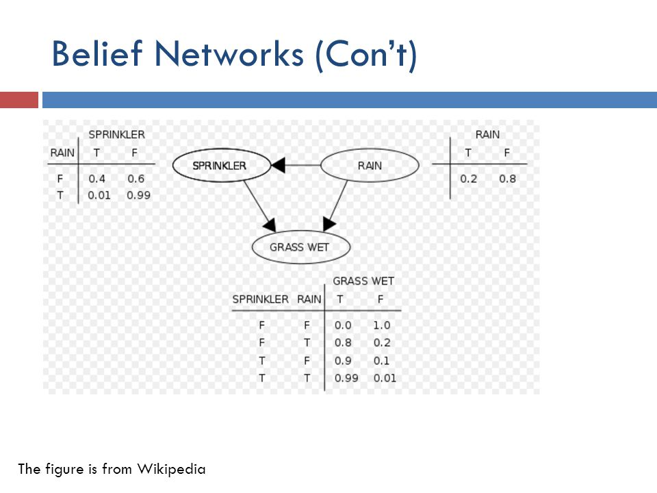 Belief Networks (Con't)