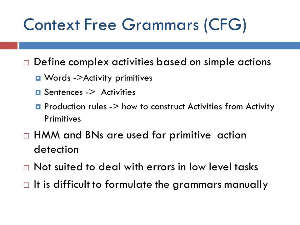 Context Free Grammars (CFG)