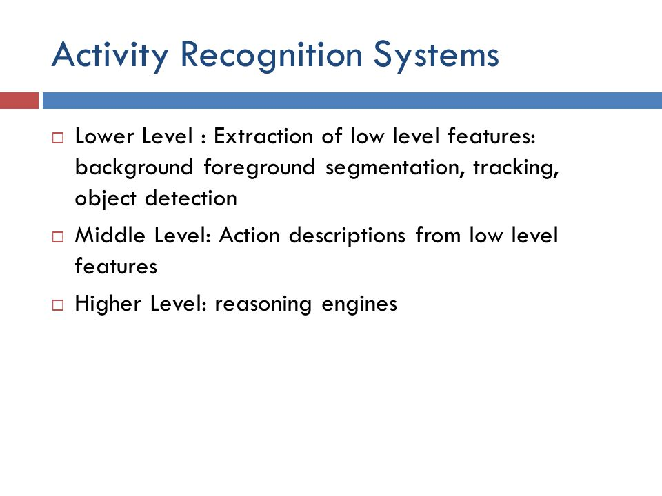 Activity Recognition Systems