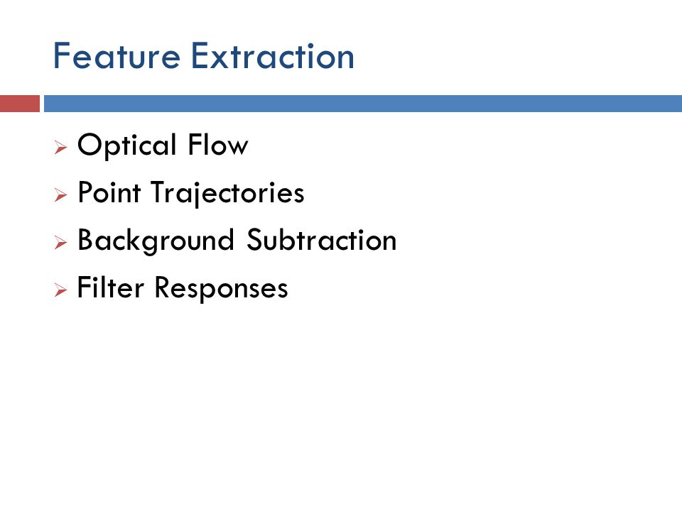 Feature Extraction Optical Flow Point Trajectories