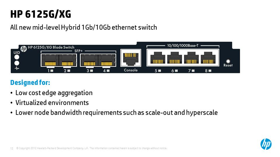 All new mid-level Hybrid 1Gb/10Gb ethernet switch