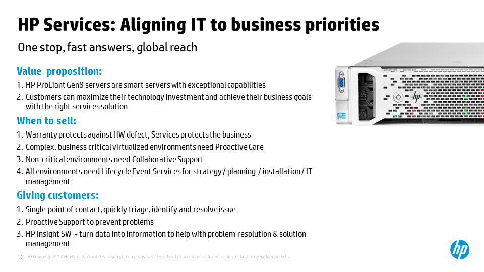 HP Services: Aligning IT to business priorities