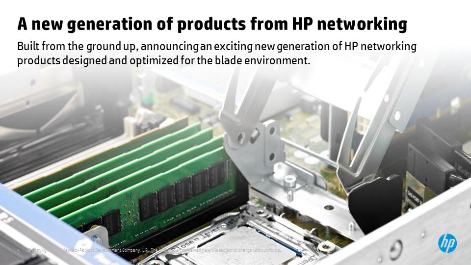 A new generation of products from HP networking
