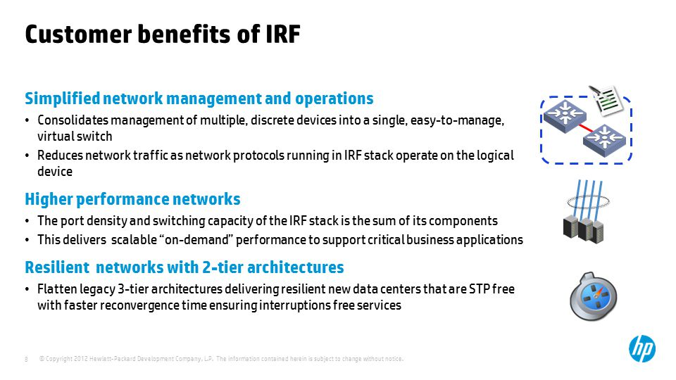 Customer benefits of IRF