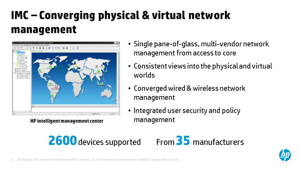 IMC – Converging physical & virtual network management