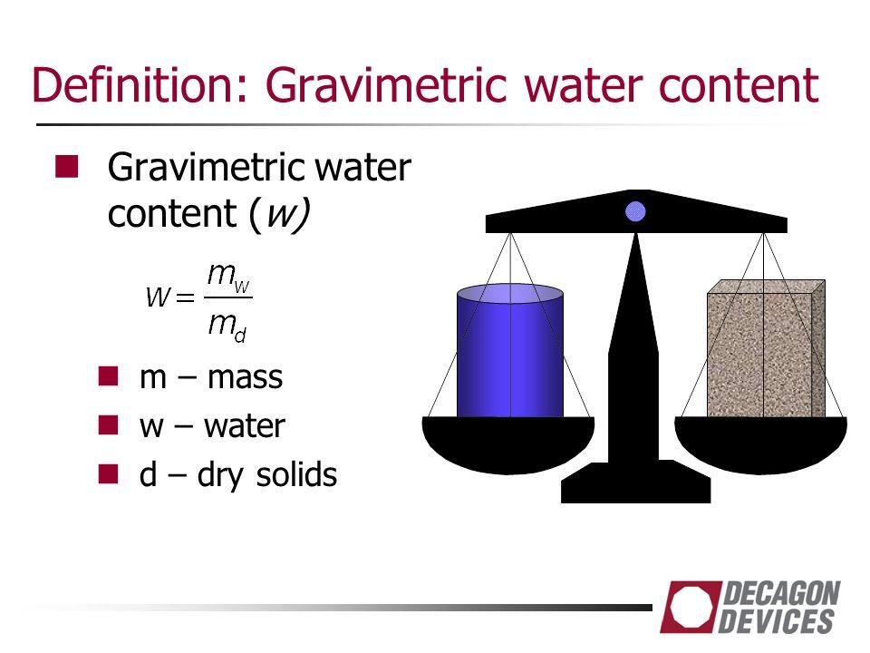 Definition: Gravimetric water content