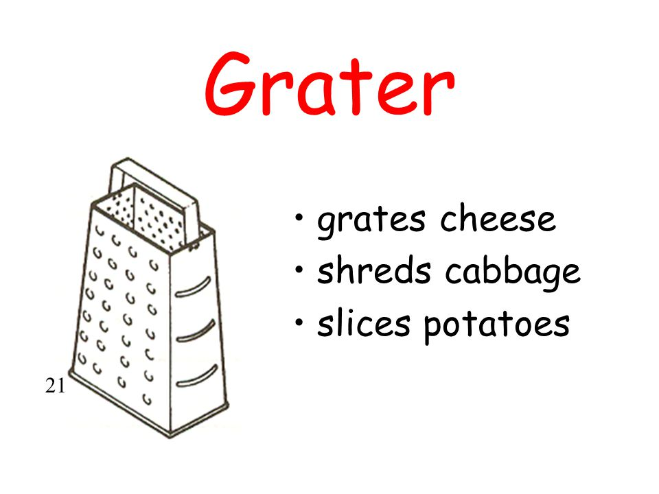 Grater grates cheese shreds cabbage slices potatoes 21