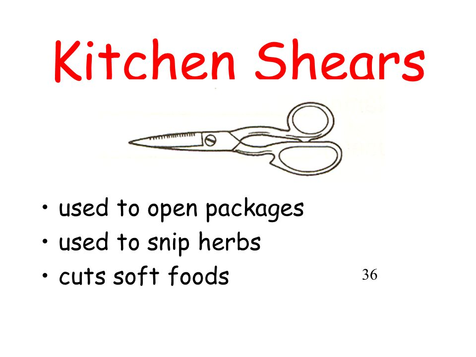 Kitchen Shears used to open packages used to snip herbs